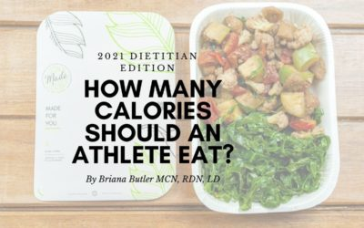 How many calories should an athlete eat? 2021 Dietitian Edition