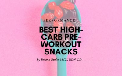 Best High-Carb Pre-workout Snacks